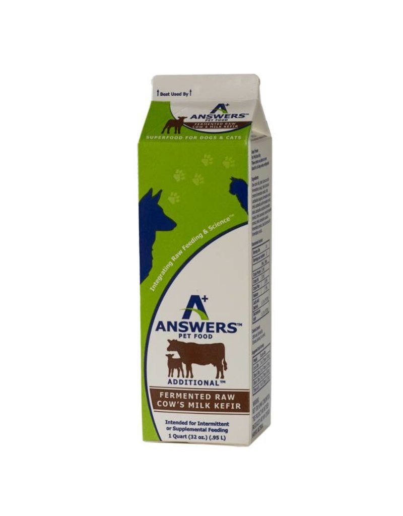 Answers Fermented Raw Cow Milk Kefir 1qt