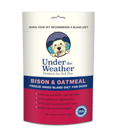 Under the Weather Oatmeal & Bison Bland Diet 6oz