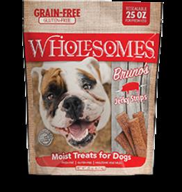 Sportmix Wholesomes Bruno's Jerky Strips Bacon 25 oz