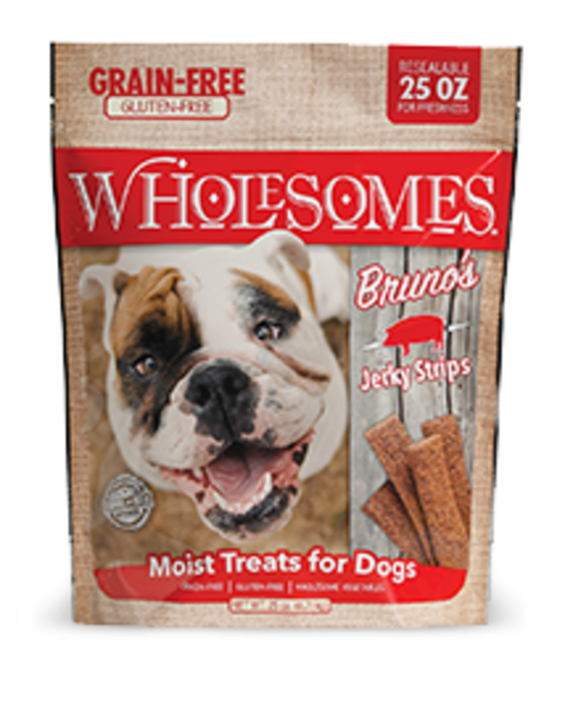 Sportmix Wholesomes Bruno's Jerky Strips Bacon 25oz