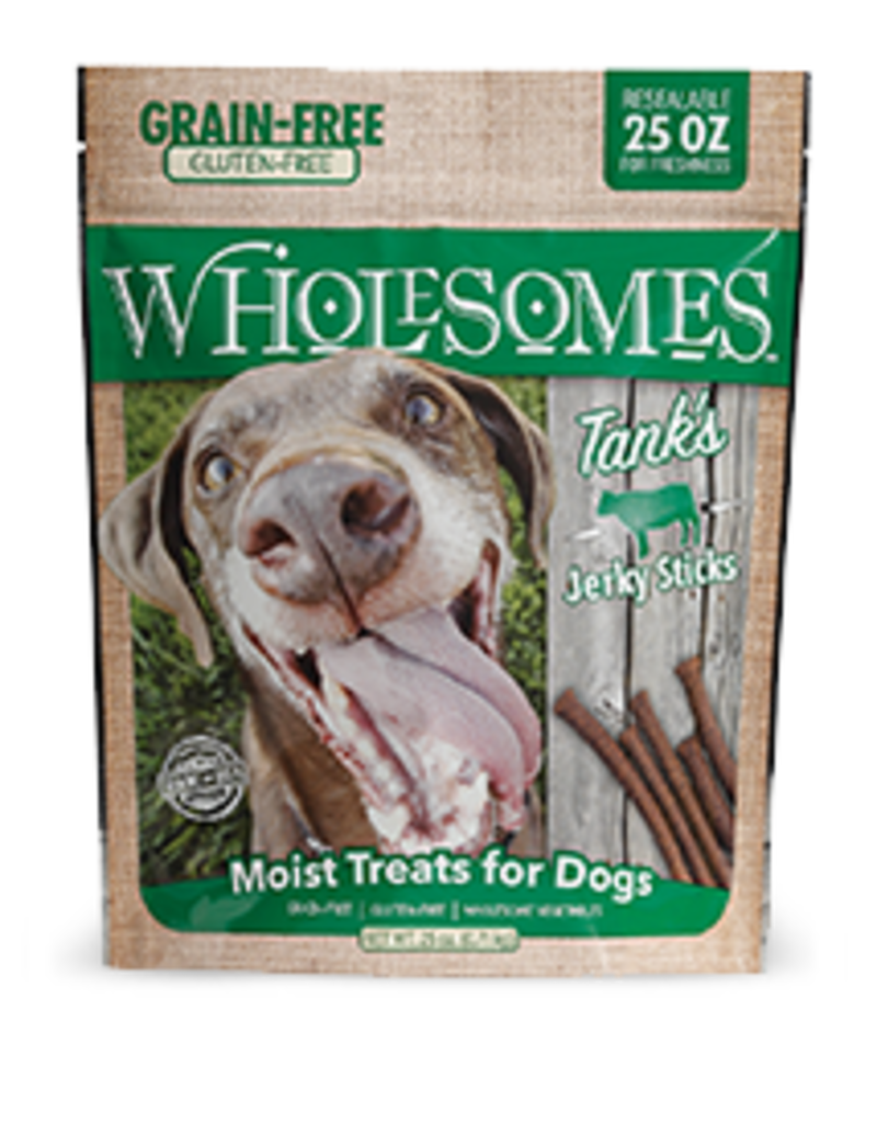 Sportmix Wholesomes Tanks Jerky Sticks Beef 25 oz