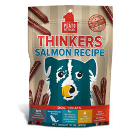 PLATO DOG TREATS Thinkers Salmon Recipe 10 oz