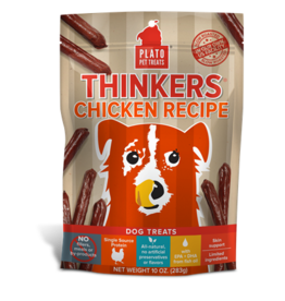 PLATO DOG TREATS Thinkers Chicken Recipe 10 oz