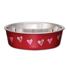 Loving Pets Bella Bowls Designer Hearts Valentine 52oz