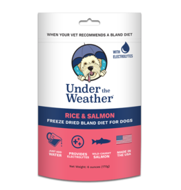 Under the Weather Freeze-Dried Bland Diet Rice & Salmon 6oz