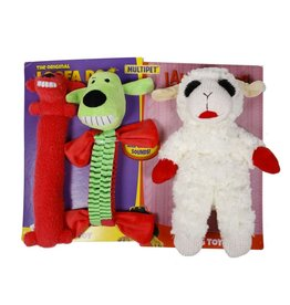 Multipet Loofa Dog & Lamb Chop 3pk