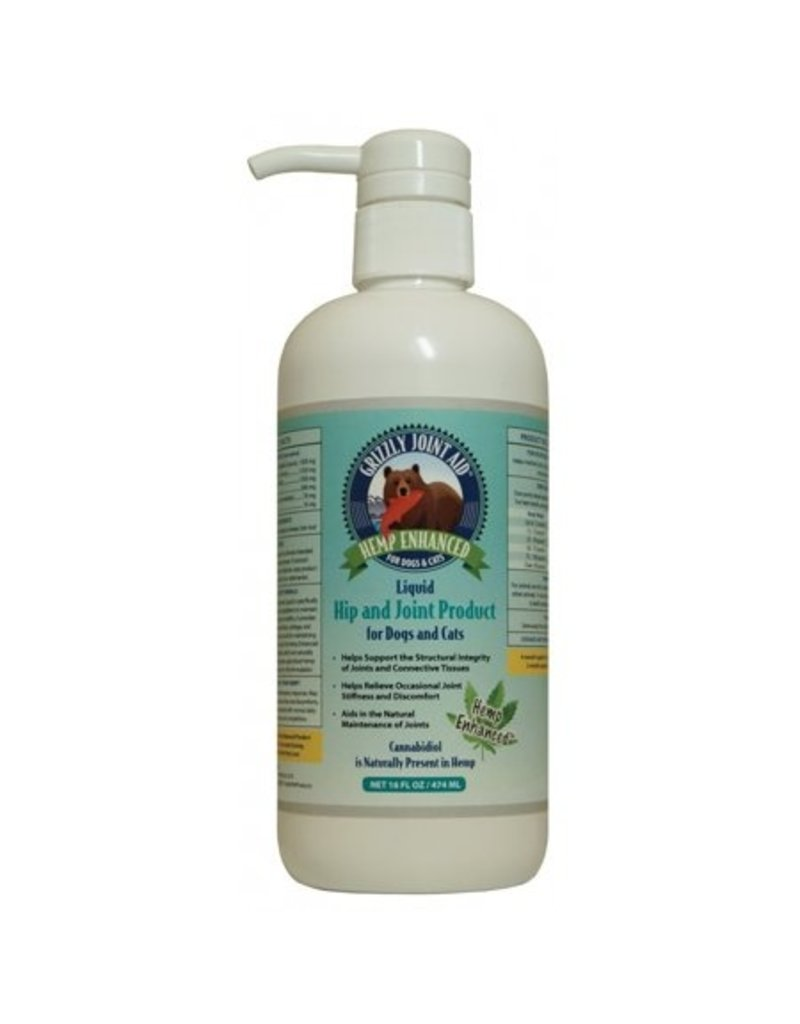 Grizzly Pet Products Hemp Enhanced Hip & Joint  Aid 16oz