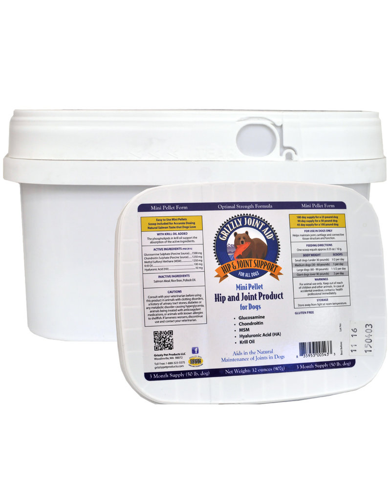 Grizzly Pet Products Grizzly Joint Aid Pellets 32oz