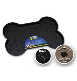 LOVING PETS CORP Bella Mat Spill Proof Black Large