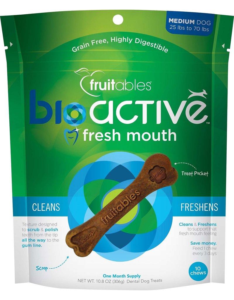 Fruitables Bioactive Fresh Mouth Medium Dog Chews 10pc