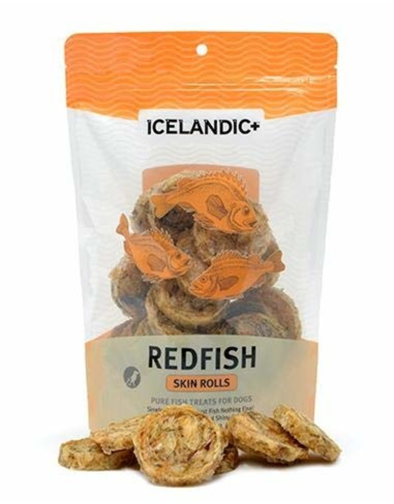 Icelandic+ Icelandic Fish Treat Red Fish Skin Rolls