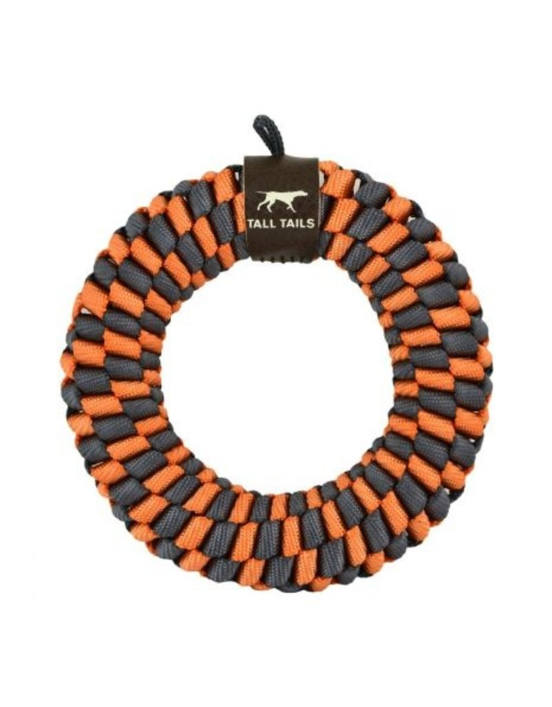 Tall Tails Orange Braided Ring 6in