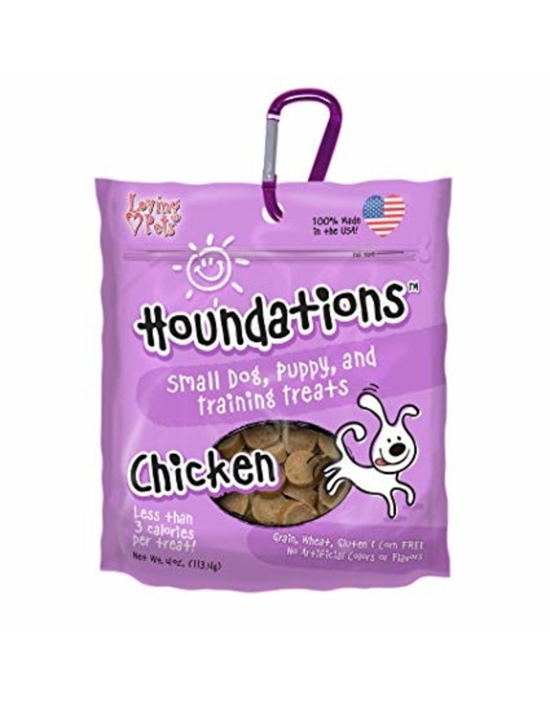 Loving Pets Houndations Chicken Training Treats 4oz