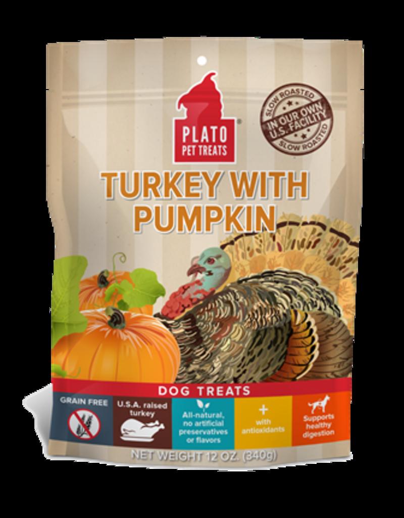 Plato Pet Treats Turkey w Pumpkin Treat 12oz
