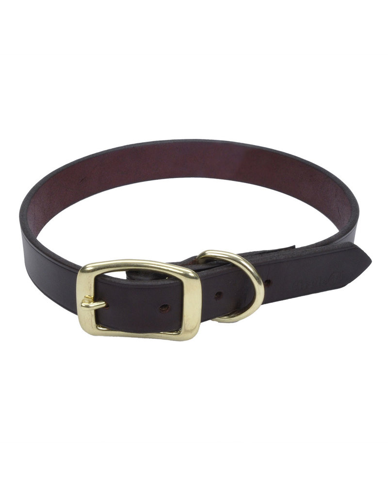 "Coastal Latigo Leather Collar 16""L 5/8""W"