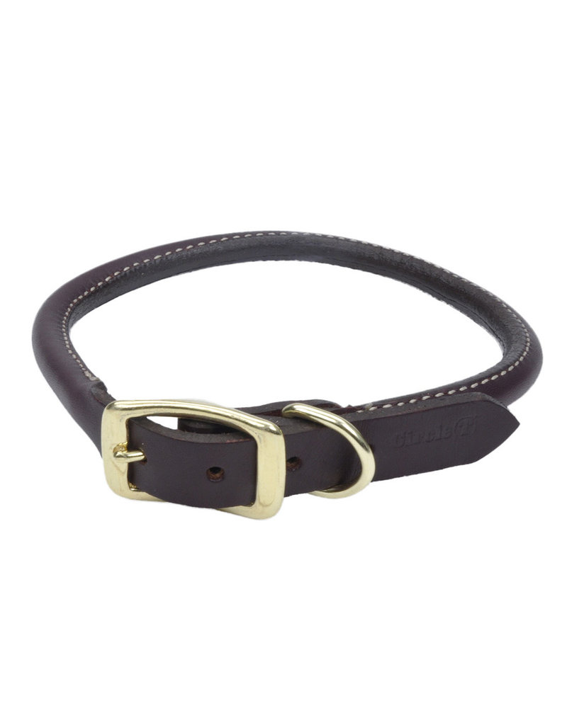 "Coastal Latigo Leather Round Collar 22""L 1""W"