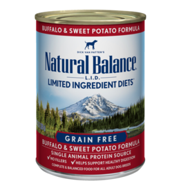 Natural Balance Buffalo & Sweet Potato Can 13oz