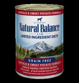 Natural Balance Dog Buffalo & Sweet Potato LID Can 13oz
