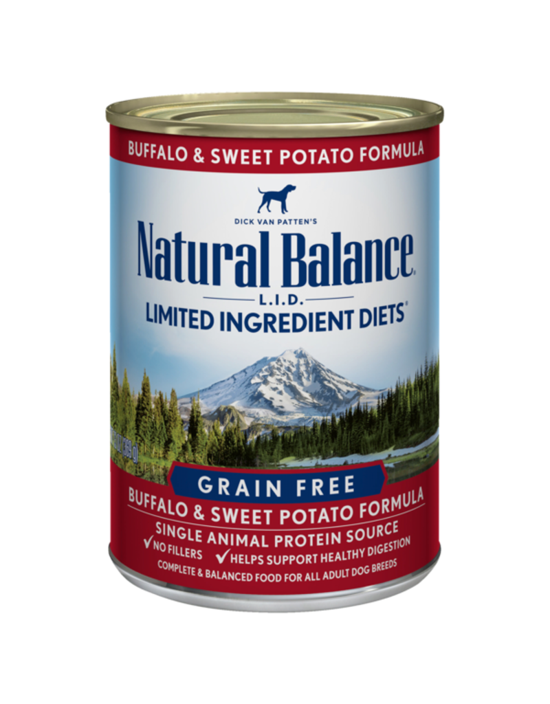 Natural Balance Buffalo & Sweet Potato Can 13oz