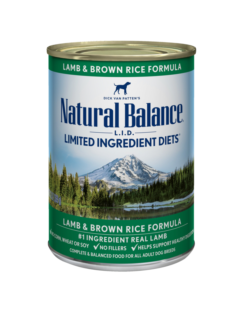 Natural Balance Lamb & Brown Rice Can 13oz