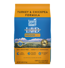 Natural Balance Cat Turkey & Chickpea Indoor LID 5lb