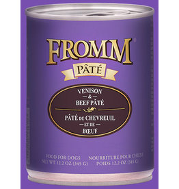 Fromm Family Dog Venison & Beef Pate' 12.2oz
