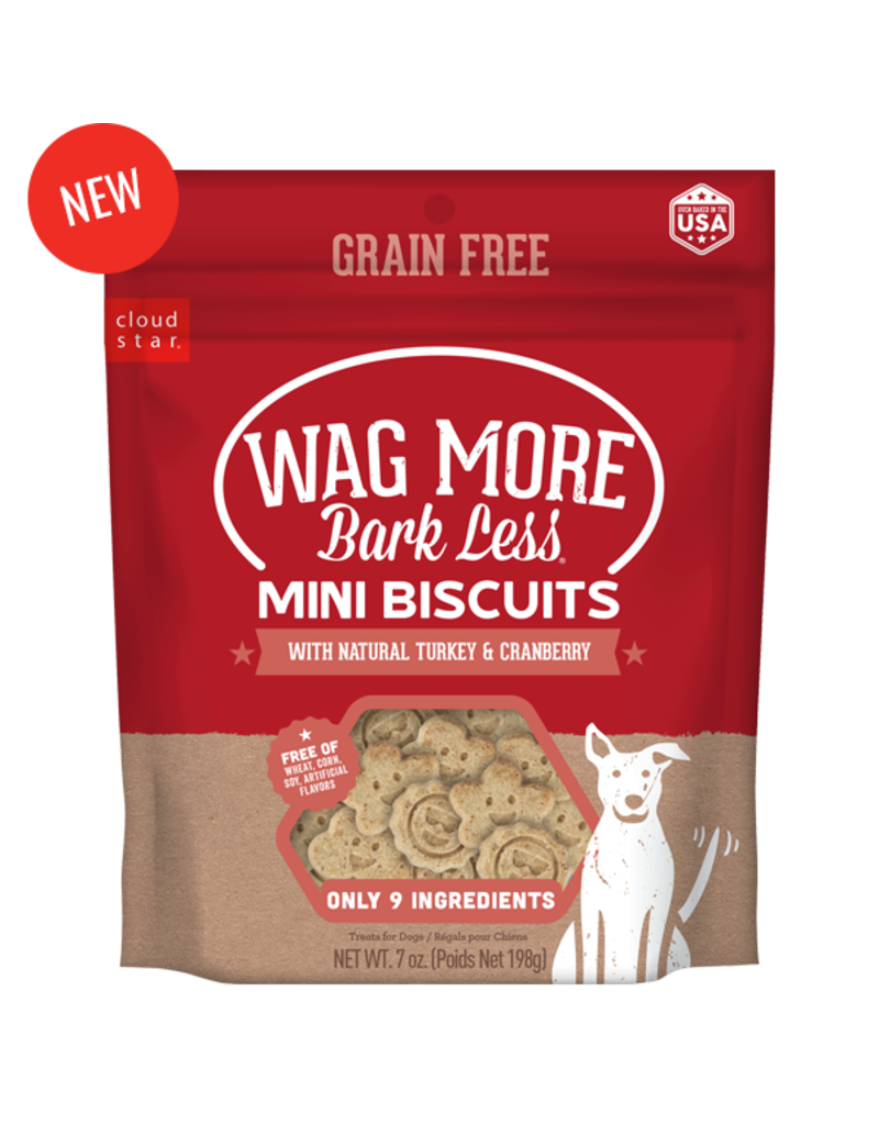 Cloud Star Wag More Grain Free Turkey & Cranberry Mini Biscuits 7oz