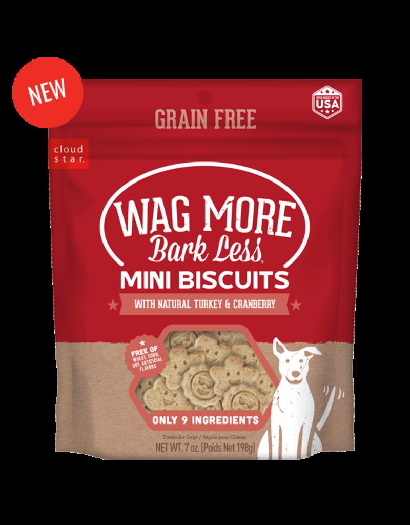 Cloud Star Wagmore Grain Free Turkey & Cranberry Mini Biscuits 7oz
