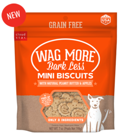 Cloud Star Wag More Grain Free Peanut Butter & Apple Mini Biscuits 7oz