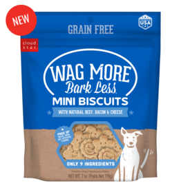 Cloud Star Wagmore Grain Free Beef, Bacon & Cheese Mini Biscuits 7oz