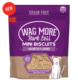 Cloud Star Wagmore Grain Free Assorted Mini Biscuits 7oz