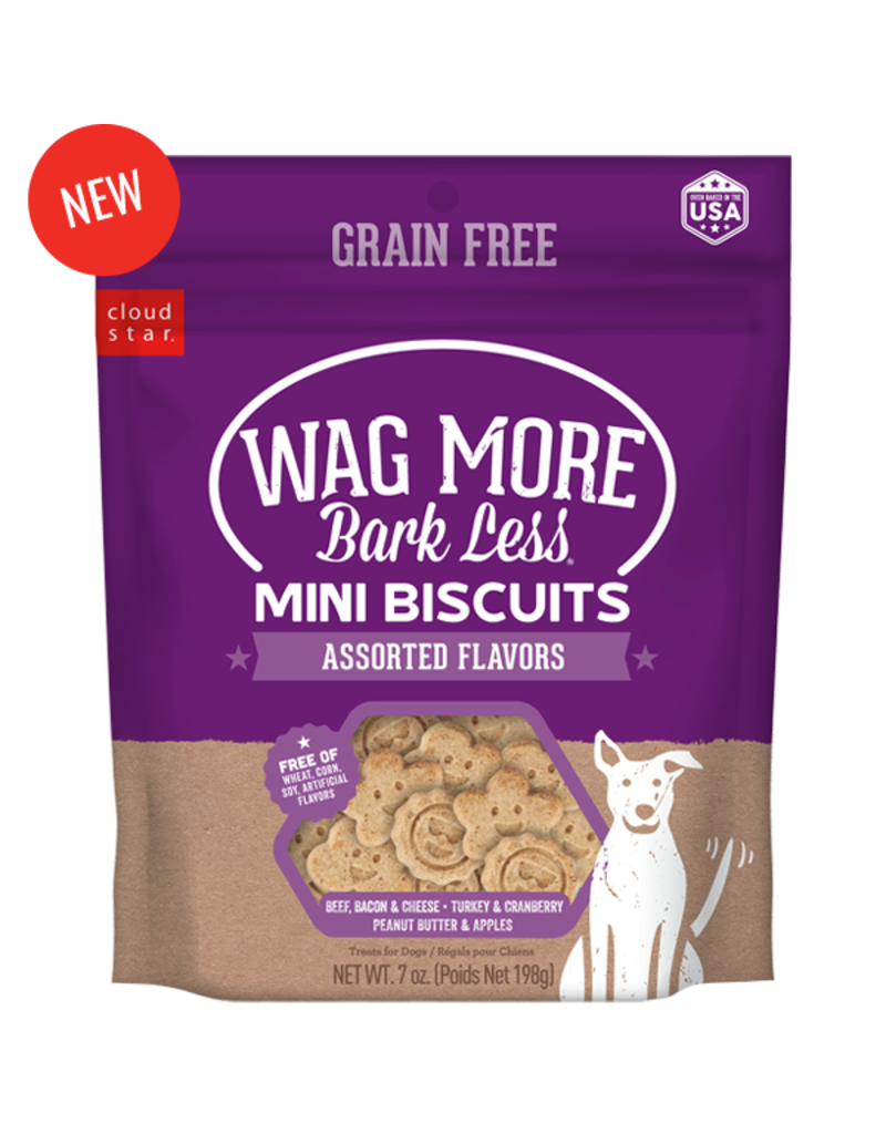 Cloud Star Wag More Grain Free Assorted Mini Biscuits 7oz