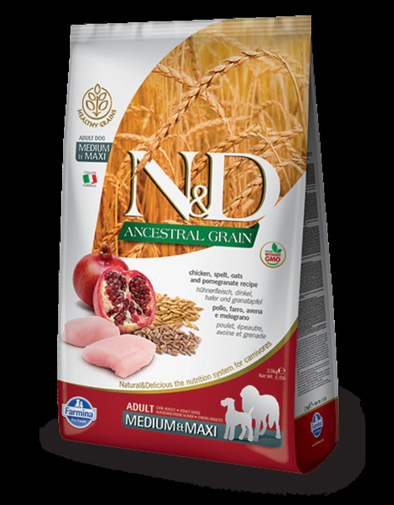Farmina Ancestral Grain Chicken & Pomegranate Medium/Maxi 26.5lbChicken & Pomegranate M/MX 26.5lb