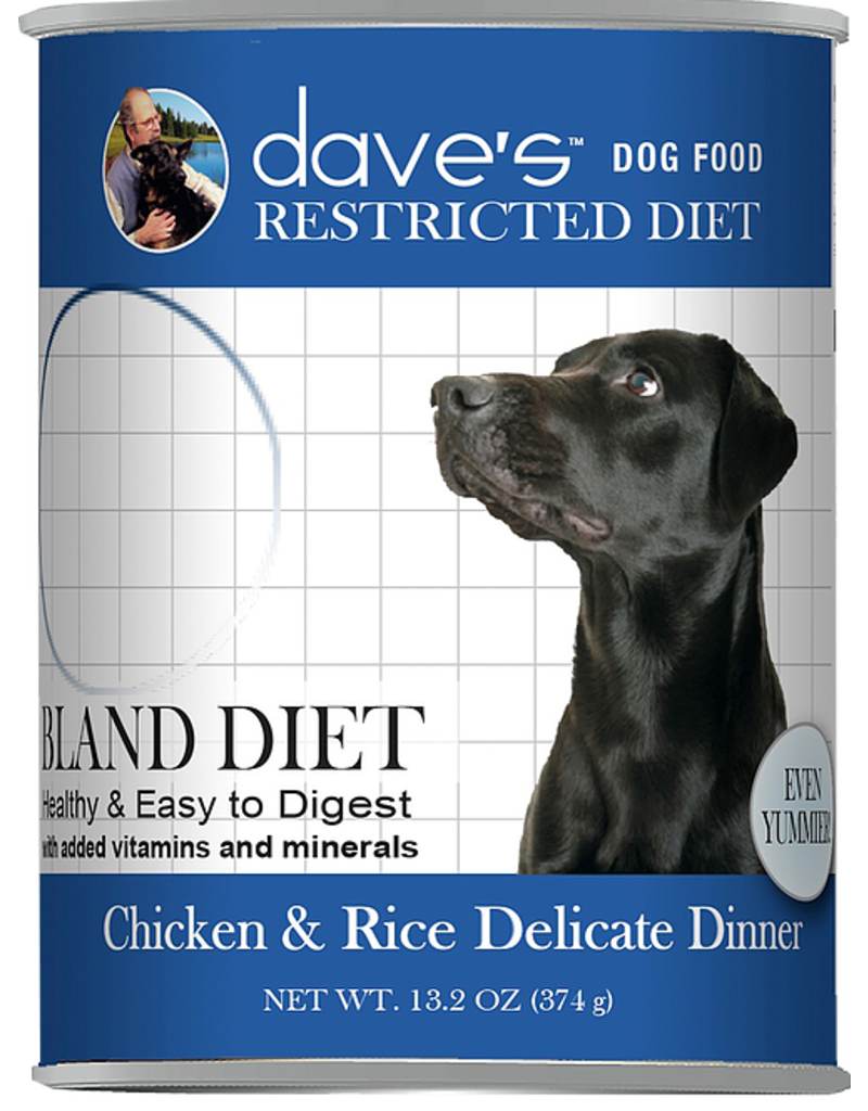 Dave's Dog Restricted Diet Bland Chicken & Rice 13 oz