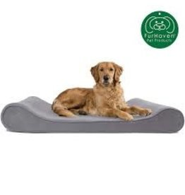FurHaven Luxe Lounger - Large - Microvelvet - Gray