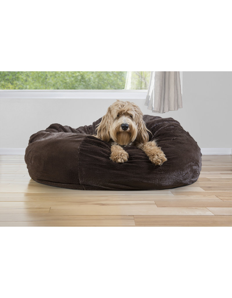 FurHaven Plush Ball Bed - Small - Brown