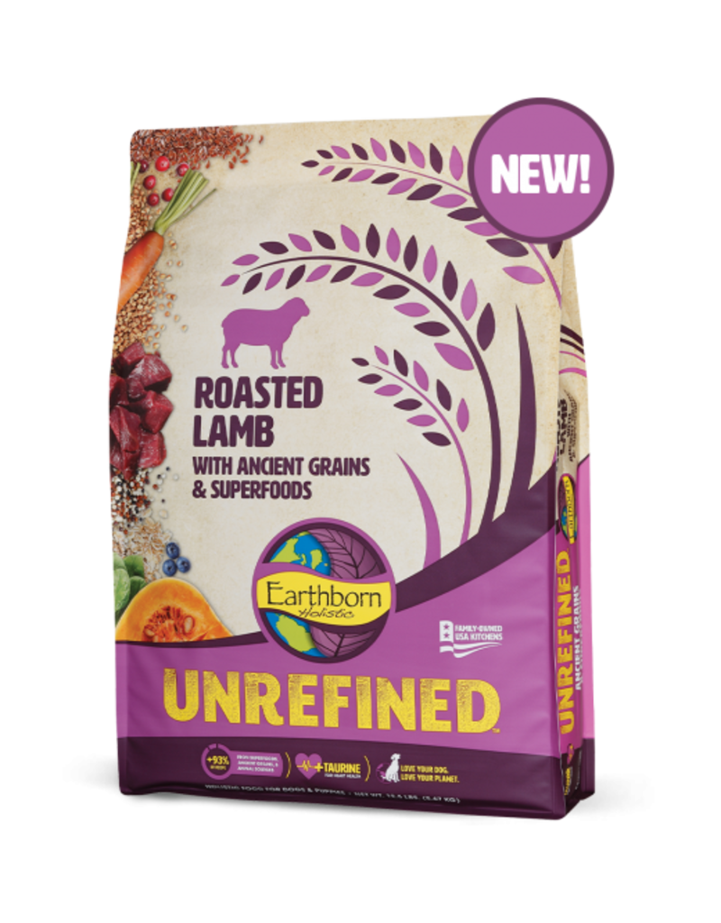 Earthborn Unrefined Roasted Lamb 25lb