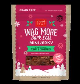 Cloud Star Wagmore Mini Jerky: Turkey & Cranberries Jerky 4oz