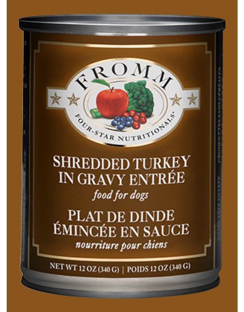 Fromm Dog Grain Free Shredded Turkey in Gravy Entree' 12oz