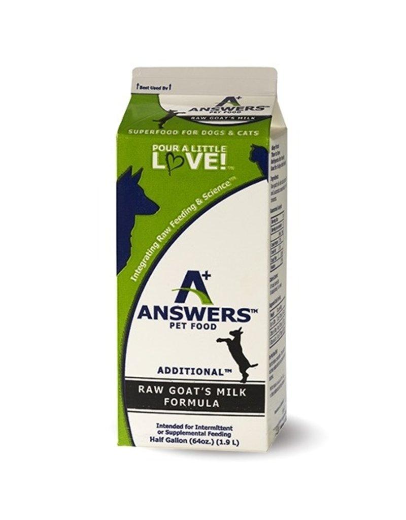 Answers Additional Raw Goat Milk 64oz