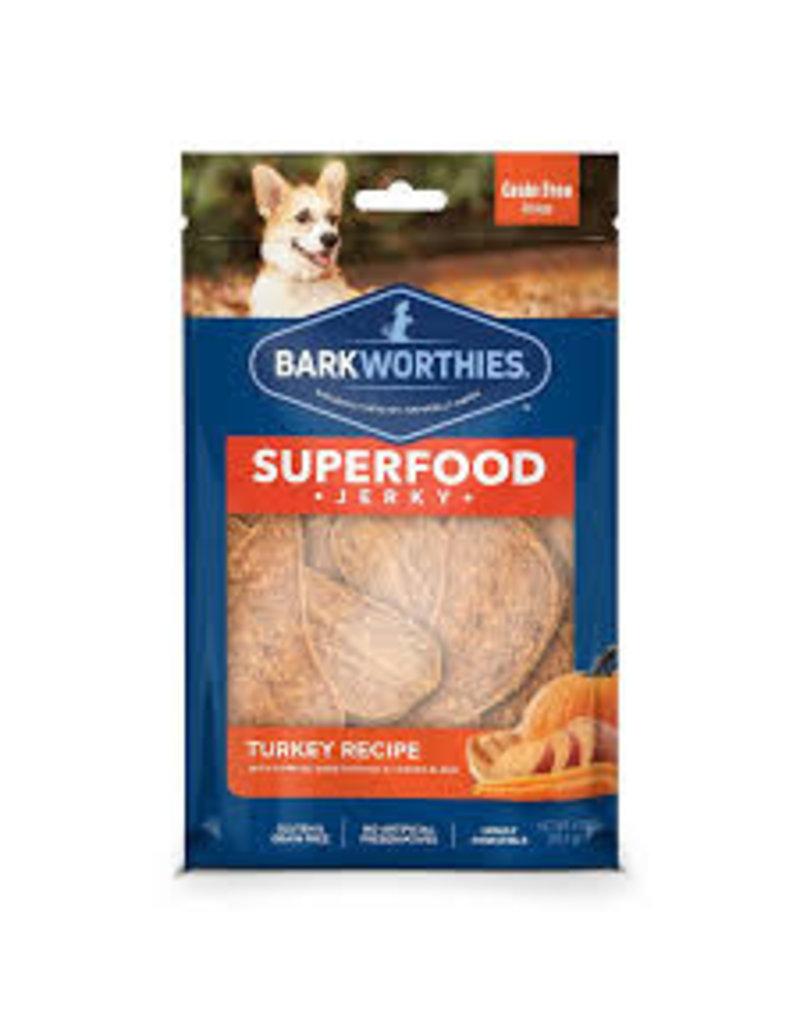 Barkworthies Turkey Jerky with Pumpkin, Sweet Potato & Carrot 4oz