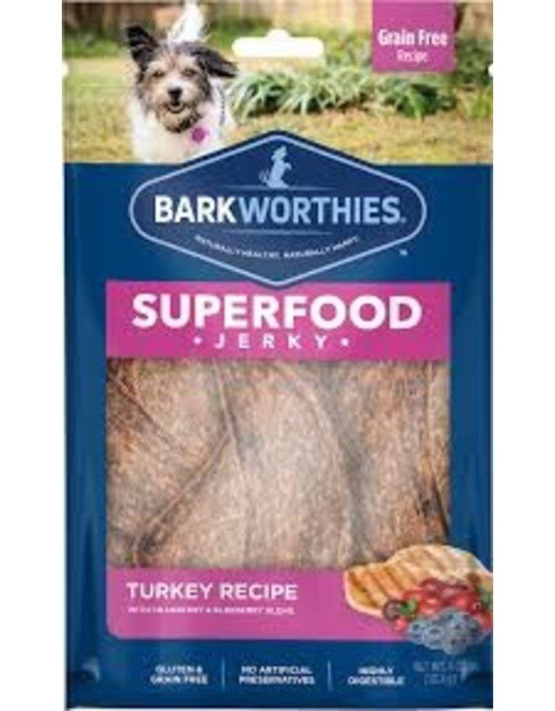 Barkworthies Turkey Jerky with Cranberry & Blueberry 4oz