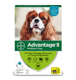 Bayer Advantage II Flea Treatment - Topical - Medium - 6pk