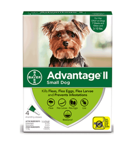 Bayer Advantage II Flea Treatment - Topical - Small - 4pk