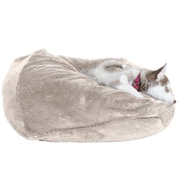 FurHaven Plush Ball Bed -  Large - Gray