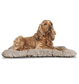 FurHaven Reversible Terry & Suede Crate Mat - Small - Clay