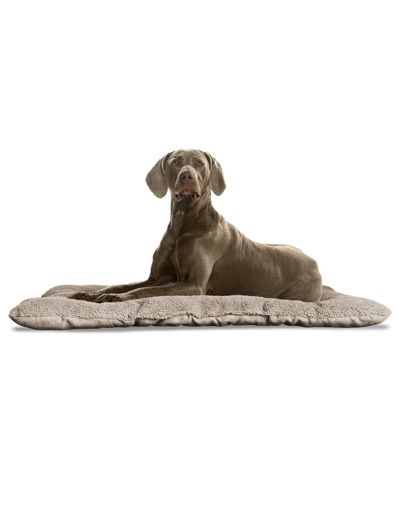 FurHaven Reversible Terry & Suede Crate Mat - XL - Clay