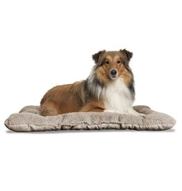 FurHaven Reversible Terry & Suede Crate Mat - Large - Clay