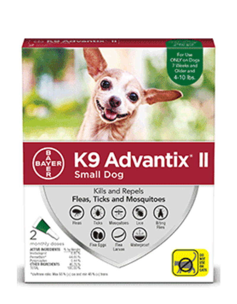 Bayer Advantix II Flea, Tick and Mosquito Prevention for Small Dogs - 2pk