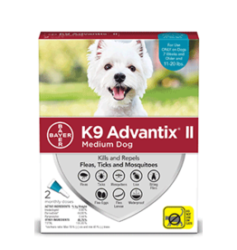 Bayer Advantix II Flea Tick & Mosquito Prevention - Topical - Medium - 2pk